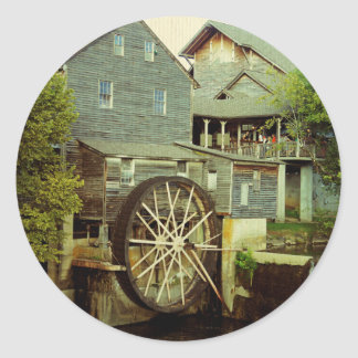 Old Mill 2 Classic Round Sticker