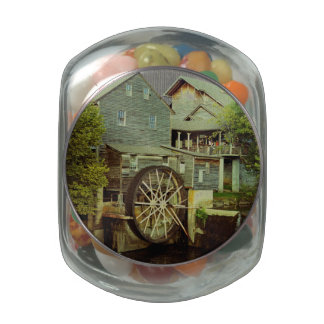 Old Mill 2 Jelly Belly Candy Jars