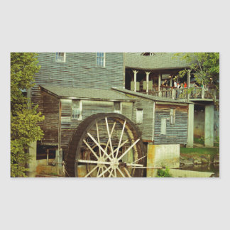 Old Mill 2 Rectangular Sticker