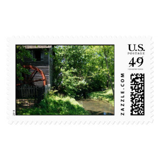 Old Mill and Creek Stamp