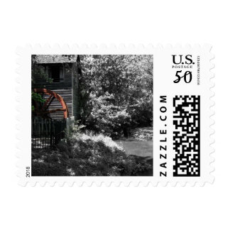 Old Mill and Creek Postage