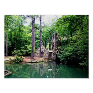 Old Mill at Berry College in Rome, GA - Poster