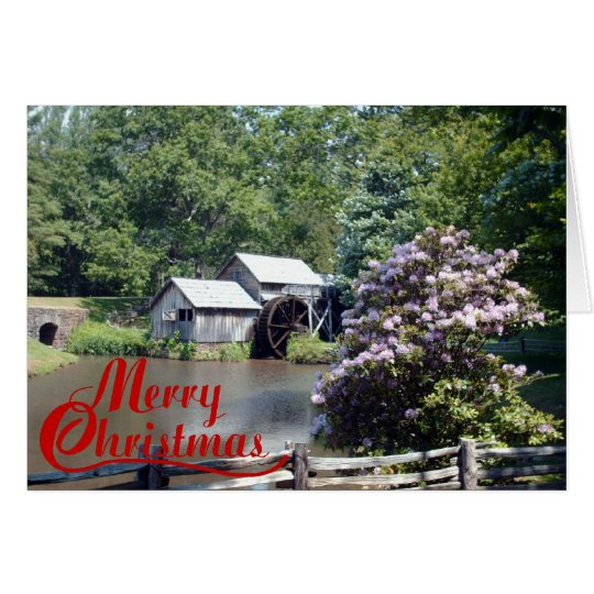 Old Mill Christmas Card