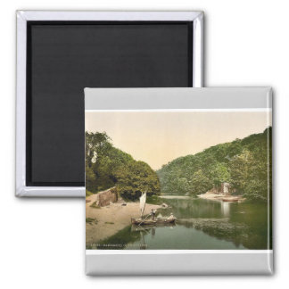 Old Mill Creek, Dartmouth, England magnificent Pho 2 Inch Square Magnet