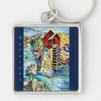 Old Mill Crystal in Colorado, painting Keychain