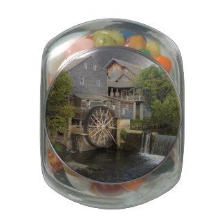 Old Mill Glass Jars