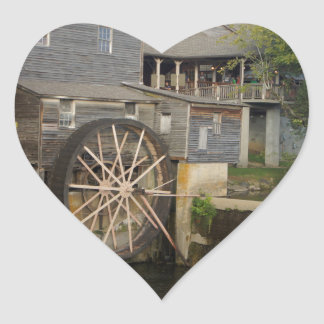 Old Mill Heart Sticker