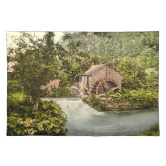 Old Mill in Ashford, Derbyshire, England Cloth Placemat