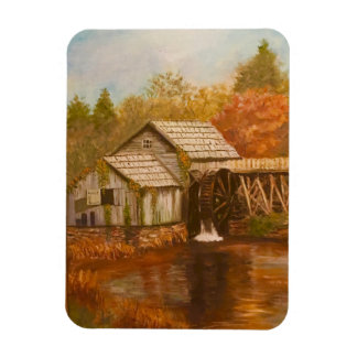 Old Mill In Autumn Magnet