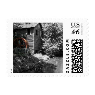 Old Mill in Cannonsburg Stamp