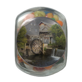Old Mill Jelly Belly Candy Jar