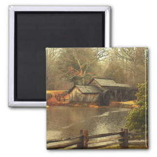 Old Mill 2 Inch Square Magnet