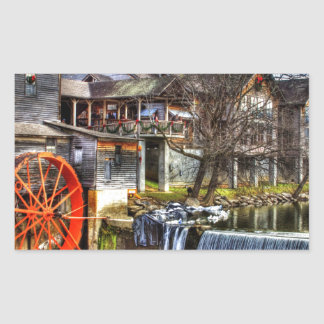 Old Mill Rectangular Sticker