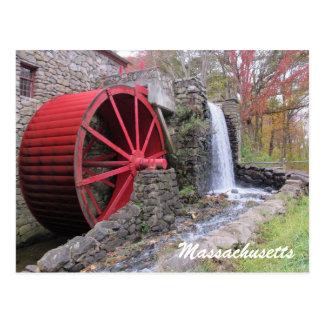 Old Mill Sudbury Massachusetts Postcard