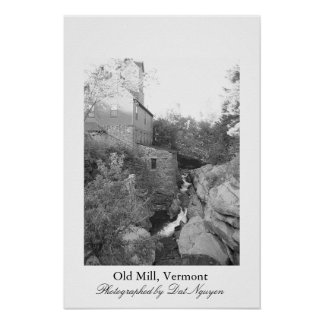 Old Mill, Vermont Poster