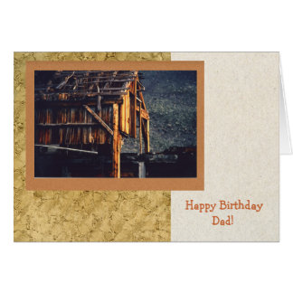 Old Mine Birthday Card for Dad