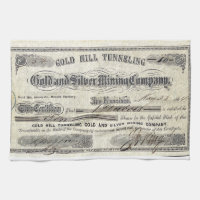 Old Mining Certificate Kitchen Towel