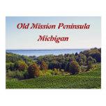 """OLD MISSION PENINSULA, MICHIGAN"" POSTCARD"