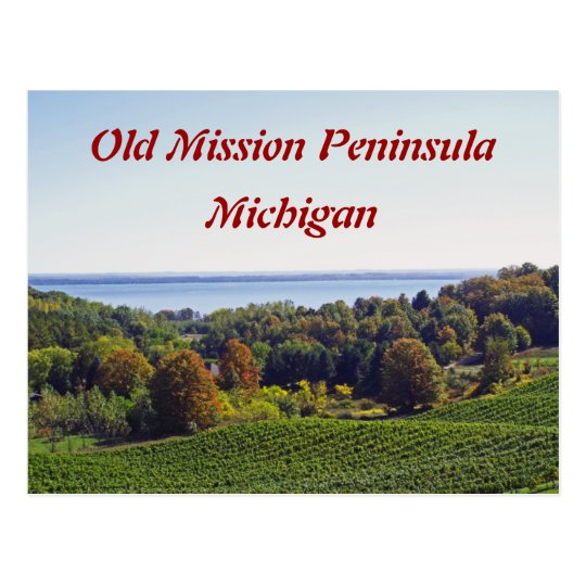 """OLD MISSION PENINSULA, MICHIGAN"" POSTCARD"