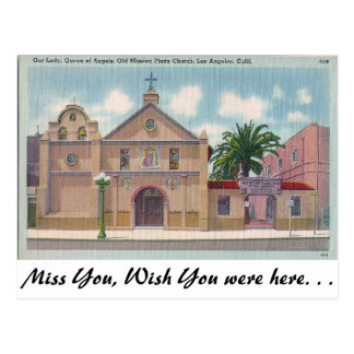 Old Mission Plaza, Los Angeles, California Postcards