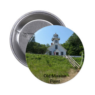 Old Mission Point Lighthouse Button