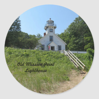 Old Mission Point Lighthouse Classic Round Sticker