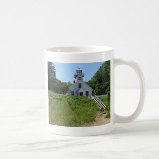 Old Mission Point Lighthouse Classic White Coffee Mug