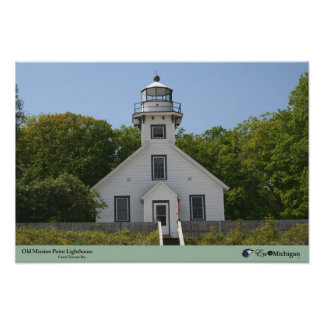 Old Mission Point Lighthouse - Michigan Print