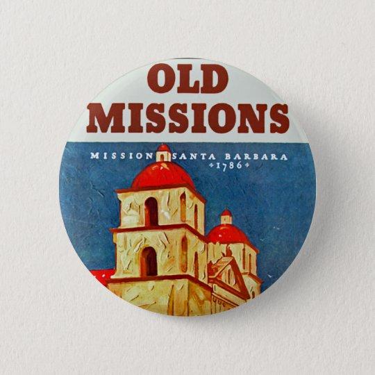 Old Missions ~ Santa Barbara Button