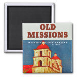 Old Missions ~ Santa Barbara Fridge Magnet
