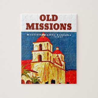 Old Missions ~ Santa Barbara Jigsaw Puzzle