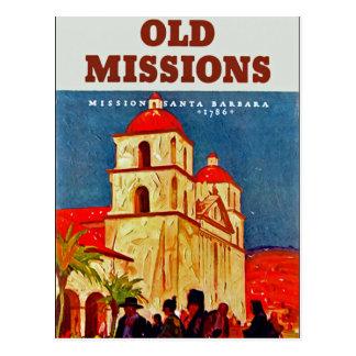 Old Missions ~ Santa Barbara Postcard