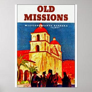 Old Missions ~ Santa Barbara Posters