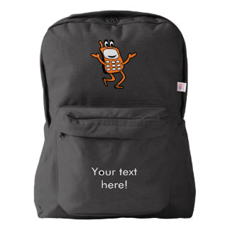 Old mobile cartoon backpack