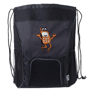 Old mobile cartoon drawstring backpack