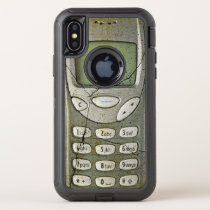 Old mobile phone OtterBox defender iPhone x case