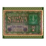 Old Money: 50 German Mark Post Card