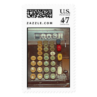 Old Money - Antique Cash Register Machine Postage