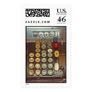 Old Money - Antique Cash Register Machine Stamp
