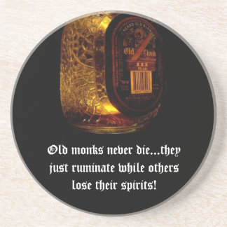 Old Monks Sandstone Coaster