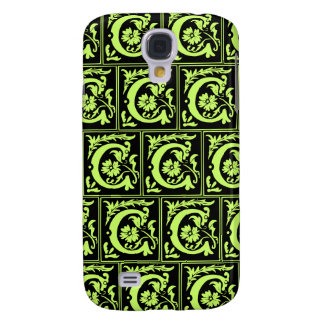 Old Monogram Pattern Letter C iPhone 3G/3GS Case Samsung Galaxy S4 Cases