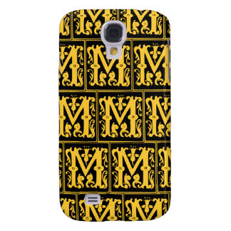 Old Monogram Pattern Letter M iPhone 3G/3GS Case Samsung Galaxy S4 Covers