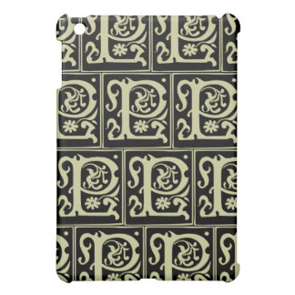Old Monogram Pattern Letter P iPad Case