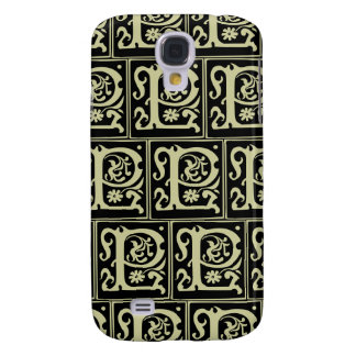 Old Monogram Pattern Letter P iPhone 3G/3GS Case Galaxy S4 Case