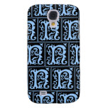 Old Monogram Pattern Letter R iPhone 3G/3GS Case Samsung Galaxy S4 Cases