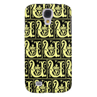 Old Monogram Pattern Letter U iPhone 3G/3GS Case Samsung Galaxy S4 Cover
