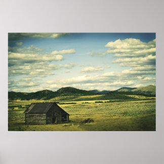Old Montana Barn Print
