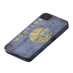 Old Montana Flag; Iphone 4 Cover at Zazzle