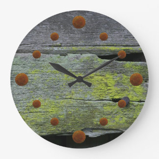 Old Mossy Wood Wall Clock