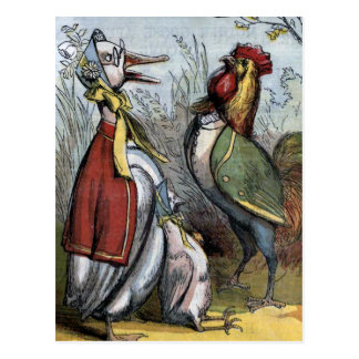 """""""Old Mother Goose and Mr. Coxcomb"""" Postcard"""
